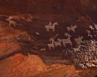 Arte da rocha de Utá fotografia de stock royalty free