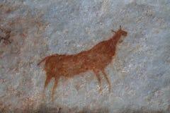 Arte da rocha do mateiro Fotografia de Stock