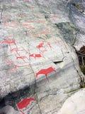 A arte da rocha em Alta Imagem de Stock