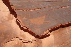 Arte da rocha em Utá fotografia de stock