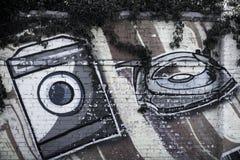 Arte da rua aparelhos eletrodomésticos Fotografia de Stock Royalty Free