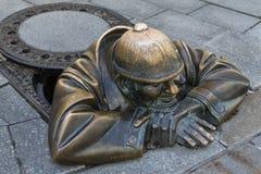 Arte da rua - Bratislava - Eslováquia Fotografia de Stock