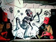 Arte da rua da cidade imagens de stock royalty free