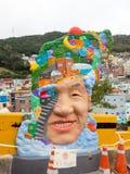 Arte da rua da vila da cultura de Gamcheon imagens de stock