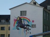 Arte da rua de Islândia em Reykjavik imagens de stock royalty free