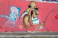 Arte da rua de Munich, Alemanha Imagens de Stock