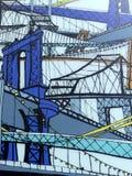 Arte da rua de pontes de New York Imagens de Stock