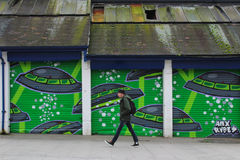Arte da rua dos grafittis fotografia de stock
