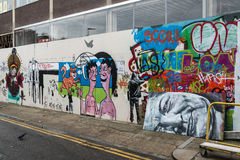 Arte da rua dos grafittis de Londres Imagem de Stock