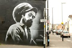 Arte da rua em Bristol, Reino Unido foto de stock