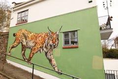 Arte da rua em Bristol, Reino Unido imagens de stock