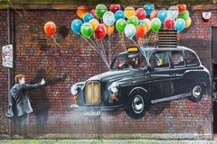 Arte da rua em Glasgow, Reino Unido Imagens de Stock Royalty Free