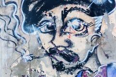 Arte da rua em Livorno, Itália Fotografia de Stock