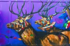 Arte da rua em Londres, Reino Unido Fotos de Stock