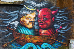 Arte da rua em Londres, Reino Unido Imagens de Stock