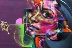 Arte da rua em Londres, Reino Unido Fotografia de Stock Royalty Free