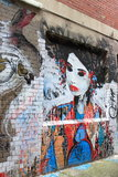 Arte da rua em Melbourne Imagem de Stock