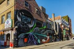 Arte da rua em Montreal fotografia de stock royalty free
