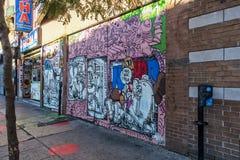 Arte da rua em Montreal fotos de stock