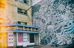 Arte da rua em Montreal Imagens de Stock