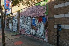 Arte da rua em Montreal foto de stock