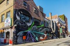Arte da rua em Montreal fotos de stock royalty free