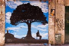Arte da rua em Palermo Imagem de Stock