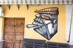 Arte da rua em Palermo, Itália Imagens de Stock