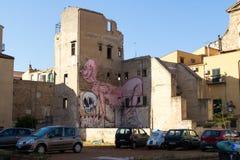 Arte da rua em Palermo, Itália Imagem de Stock