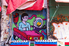 Arte da rua em Palermo, Itália Fotografia de Stock