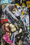 Arte da rua em Paris, França Imagens de Stock