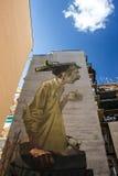 Arte da rua em Roma fotografia de stock