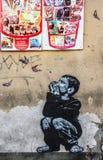 Arte da rua em Roma fotografia de stock royalty free