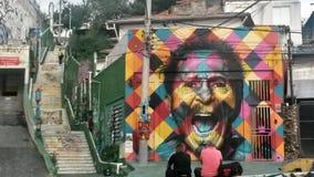 Arte da rua em Sao Paulo fotografia de stock