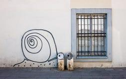Arte da rua em Vilnius Foto de Stock Royalty Free