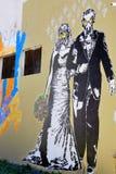 Arte da rua em vizinhanças de Boca do La Foto de Stock