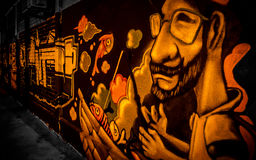 Arte da rua - grafitti Fotos de Stock Royalty Free