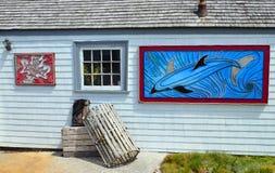Arte da rua na angra de Peggy Foto de Stock