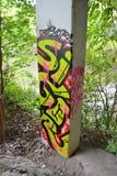 Arte da rua na coluna Foto de Stock Royalty Free