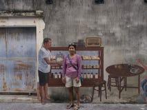 Arte da rua na parede em Songkhla Tailândia Foto de Stock Royalty Free