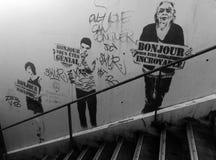 Arte da rua na Paris subterrânea imagem de stock royalty free