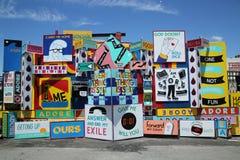 Arte da rua na pele de coelho Art Walls na seção de Coney Island de Brooklyn Imagens de Stock