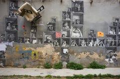 Arte da rua no distrito carregado EL, o 9 de março de 2013 em Barcelona, Espanha Imagem de Stock Royalty Free