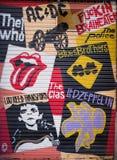 Arte da rua no distrito carregado EL, o 11 de março de 2013 em Barcelona, Espanha Fotografia de Stock Royalty Free