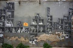 Arte da rua no distrito carregado EL, o 9 de março de 2013 em Barcelona, Espanha Fotos de Stock Royalty Free