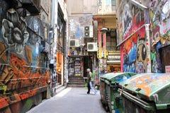Arte da rua no lugar Melbourne Austrália do centro Fotografia de Stock Royalty Free
