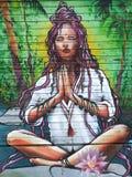 Arte da rua no mahault do baie em Índias Ocidentais francesas Foto de Stock Royalty Free
