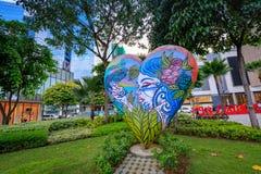 Arte da rua da rua principal em Bonifacio Global City o 1º de setembro, 201 Fotos de Stock Royalty Free