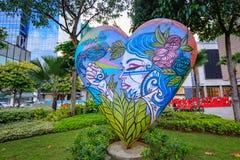 Arte da rua da rua principal em Bonifacio Global City o 1º de setembro, 201 Foto de Stock