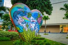 Arte da rua da rua principal em Bonifacio Global City o 1º de setembro, 201 Imagens de Stock Royalty Free
